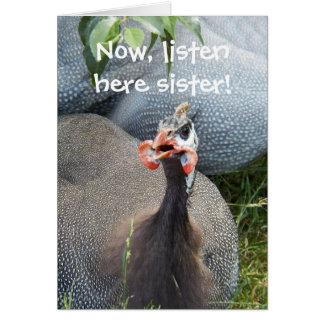 Cranky Hen Photo Funny Birthday Greeting Card
