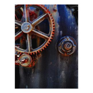 Cranky modern industrial print photo