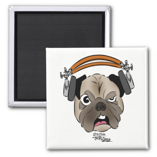 Cranky Old Dog-Faced Ham Refrigerator Magnet
