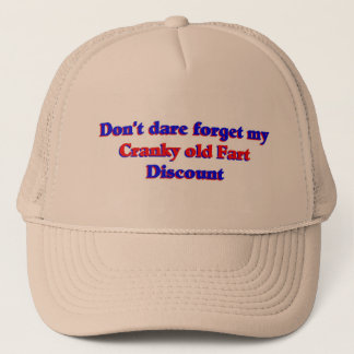 Cranky old fart discount trucker hat
