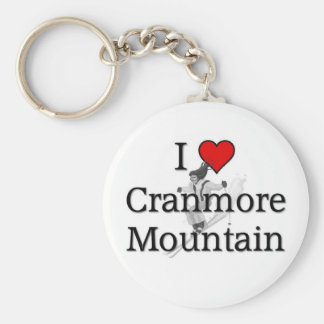 Cranmore Mountain Basic Round Button Key Ring