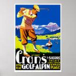 Crans Golf Alpin Posters