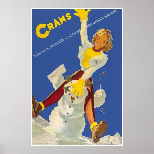 Crans - Montana,Suisse,Ski Travel Poster