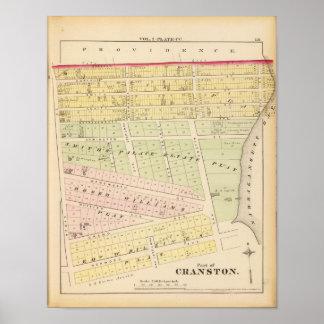 Cranston, RI Map Poster
