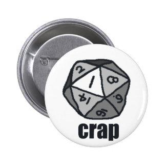 Crap 6 Cm Round Badge