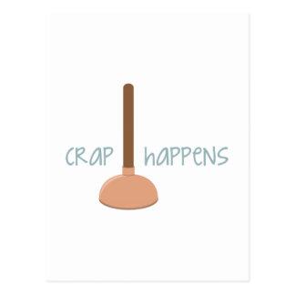 Crap Happens Postcard