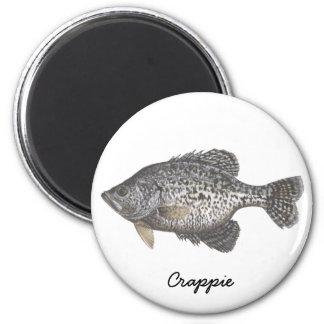 CRAPPIE, Crappie 6 Cm Round Magnet