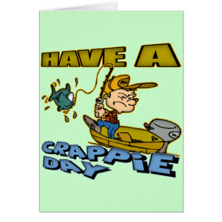Crappie Day Fishing T-shirts and Gifts Greeting Card
