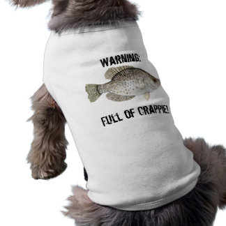 Crappie Dog Outfit Sleeveless Dog Shirt