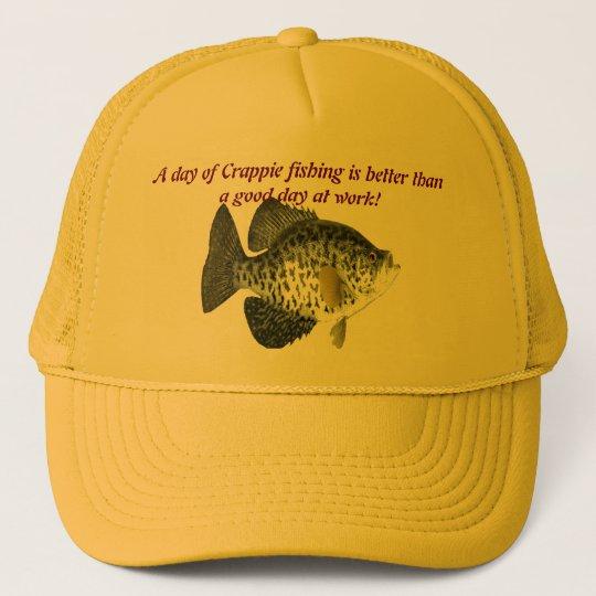 Crappie fishing cap