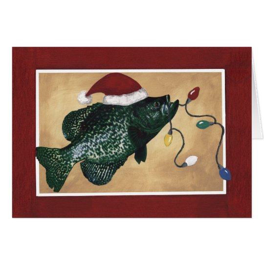 Crappie Holidays Card