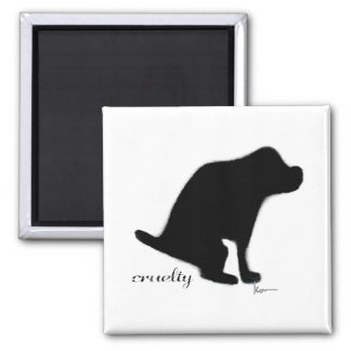 """""""Crapping on Cruelty"""" Square Magnet"""