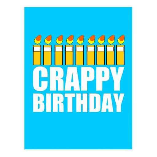 Crappy Birthday Post Cards