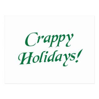 Crappy Christmas Happy Holidays Postcard