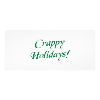 Crappy Christmas Happy Holidays Rack Cards
