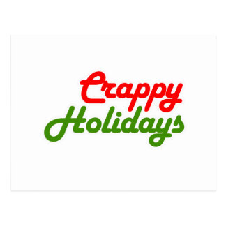 CRAPPY HOLIDAYS -.png Postcard