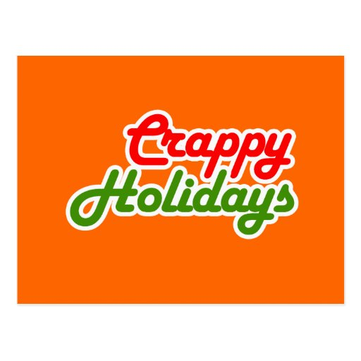 CRAPPY HOLIDAYS POST CARDS