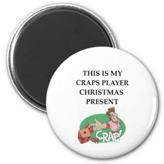 craps 6 cm round magnet