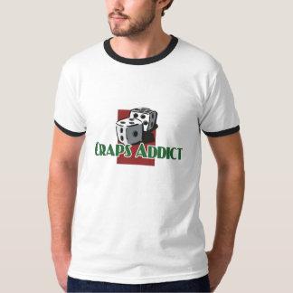 Craps Addict's ringer-t T-Shirt
