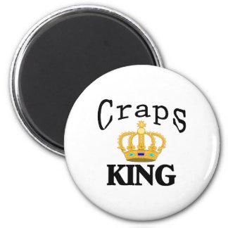 Craps King 6 Cm Round Magnet