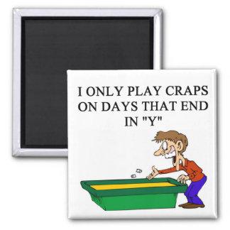 craps shooter casino gambler square magnet