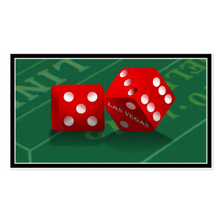 Craps Table With Las Vegas Dice Pack Of Standard Business Cards