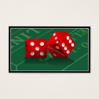 Craps Table With Las Vegas Dice Business Card