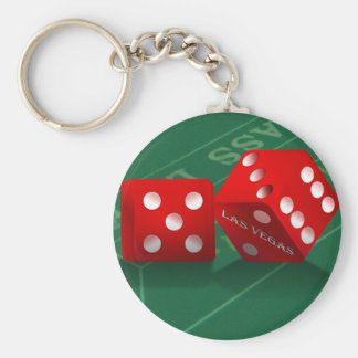 Craps Table With Las Vegas Dice Key Ring