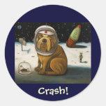 Crash 2  Not Again! Classic Round Sticker