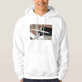 Crash cymbal painterly drumset side music design hoodie