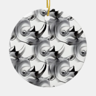 Crash of Rhinos Christmas Ornament