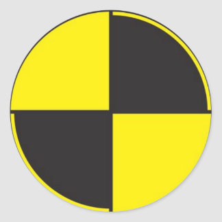 crash test dummies, r&d classic round sticker