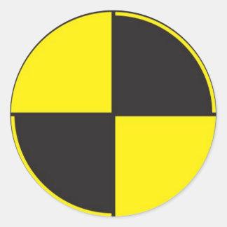 crash test dummies, r&d round sticker