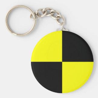 crash test dummies symbol sign car accident key ring