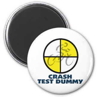 CRASH TEST DUMMY - bike Magnet