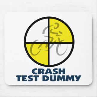 CRASH TEST DUMMY - bike Mouse Mat
