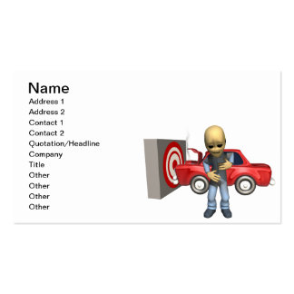 Crash Test Dummy Double-Sided Standard Business Cards (Pack Of 100)