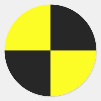 Crash Test Dummy Marker Classic Round Sticker