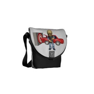Crash Test Dummy Messenger Bags