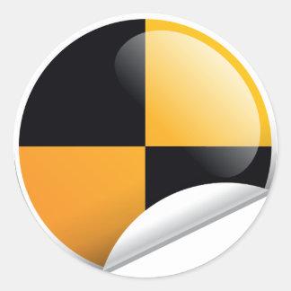 Crash Test Mark Classic Round Sticker