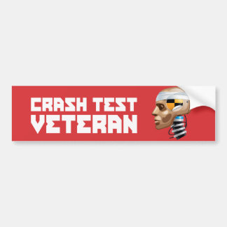 Crash Test Veteran Bumper Sticker