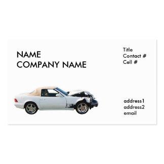 crashed car business cards