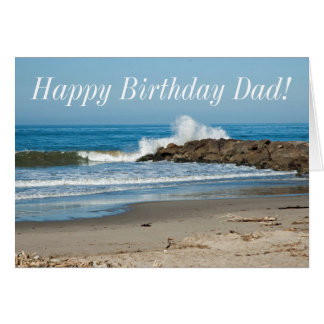 Crashing Surf Dad's Birthday Card