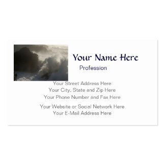 Crashing Waves At Shore Acres Oregon customizable Double-Sided Standard Business Cards (Pack Of 100)
