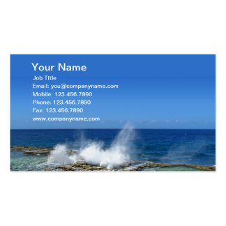 Crashing Waves Double-Sided Standard Business Cards (Pack Of 100)