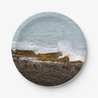 Crashing Waves: Rocky Coast 7 Inch Paper Plate