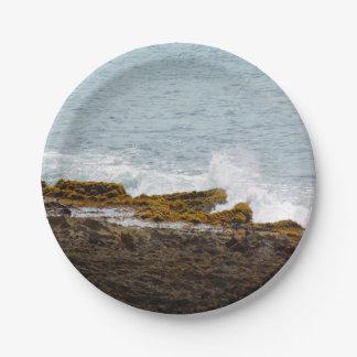 Crashing Waves: Rocky Coast 7 Inch Paper Plate