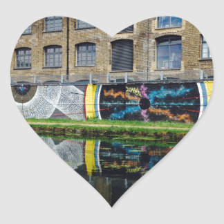 Crate Brewery Canal Side River Lea Heart Sticker