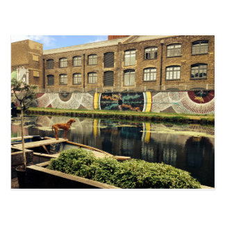 Crate Brewery Canal Side River Lea Postcard