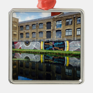 Crate Brewery Canal Side River Lea Silver-Colored Square Decoration